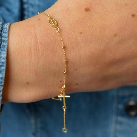 Dizainier miraculeuse et croix en or