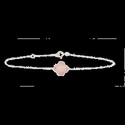 Bracelet Trèfle Quartz rose...