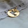 Medaille bapteme Colombe ajourée en or jaune - Maison Laudate