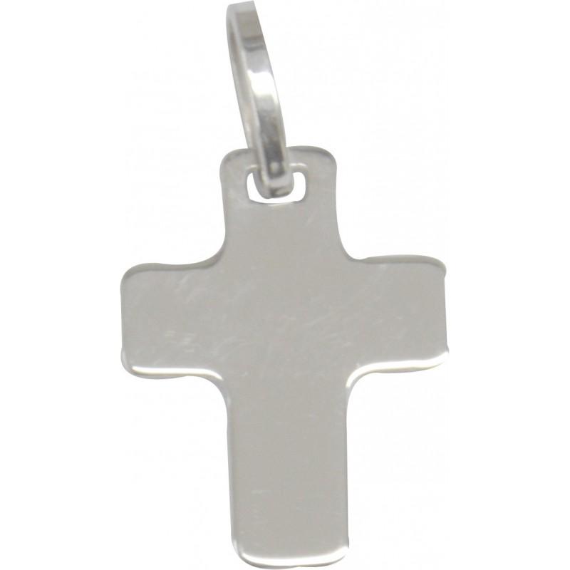 Signe de croix or blanc