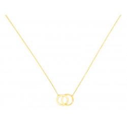 Collier petits anneaux entrelacés 18 carats