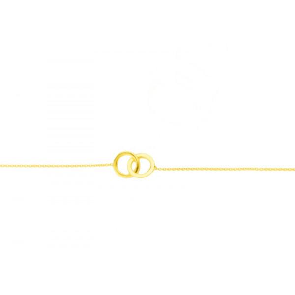 Bracelet anneaux entrelacés 18 carats