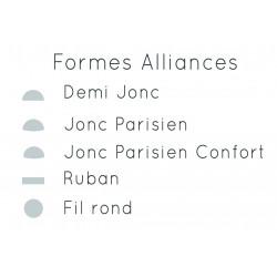 Alliance jonc parisien confort or rose