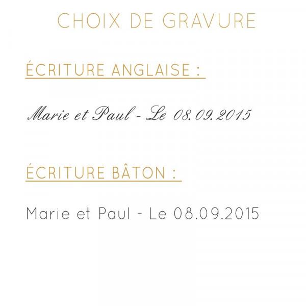 Alliance jonc parisien or gris palladié