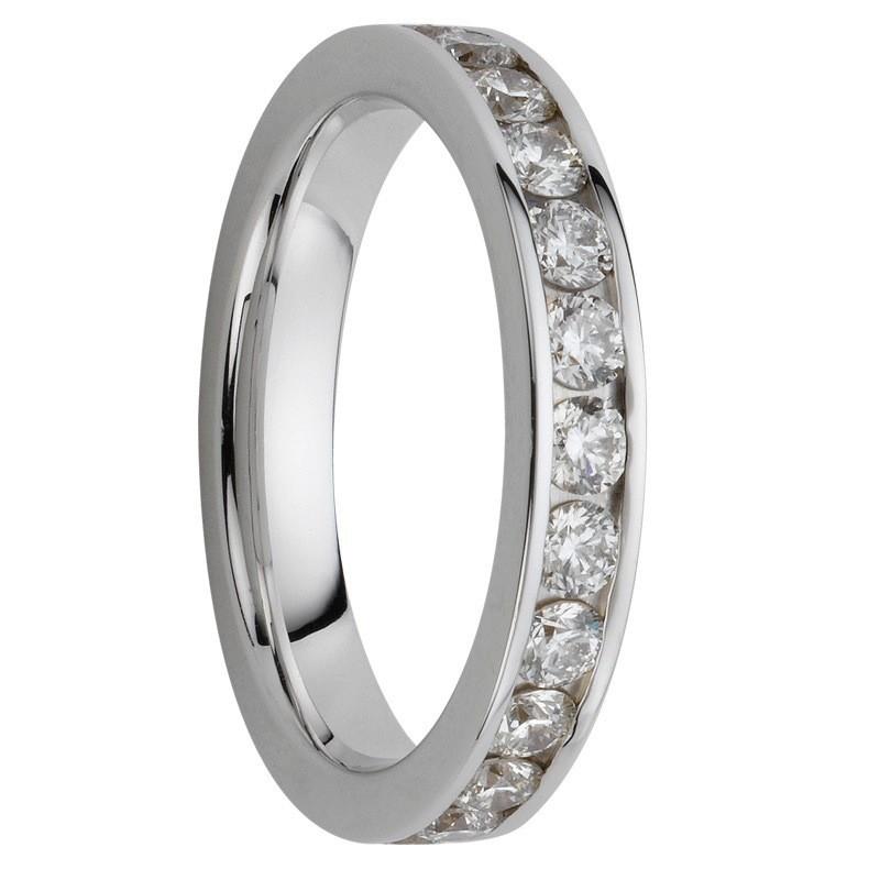 Alliance diamants sertis rails tour complet 1,680 carats
