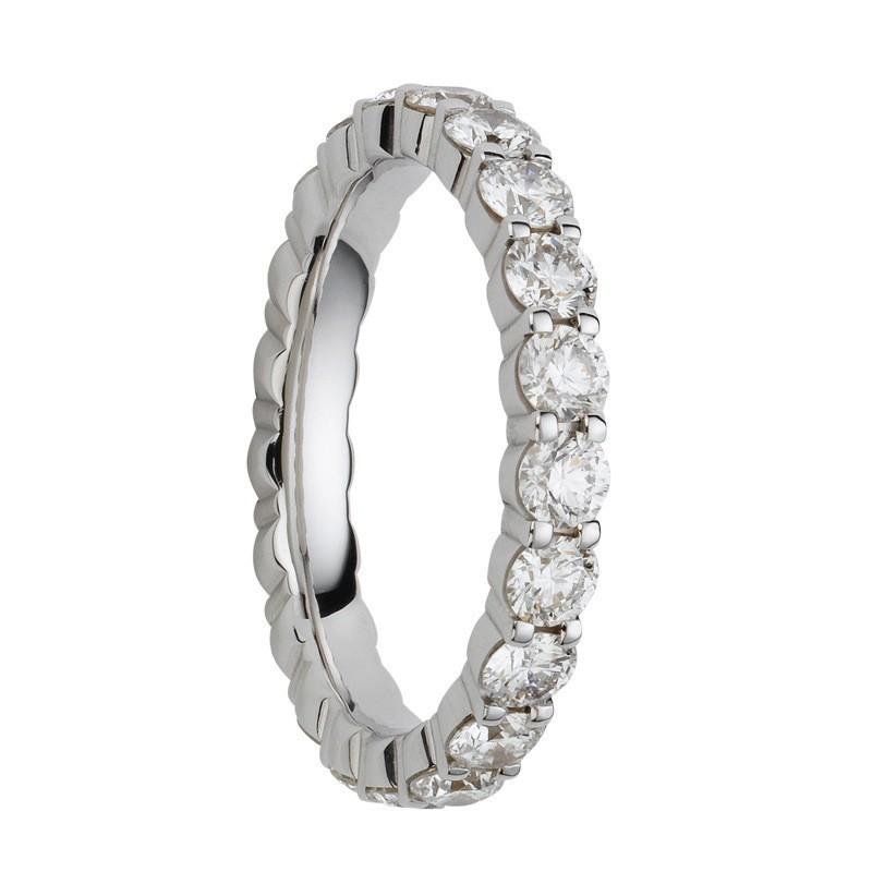 Alliance diamants griffes tour complet 3,2mm