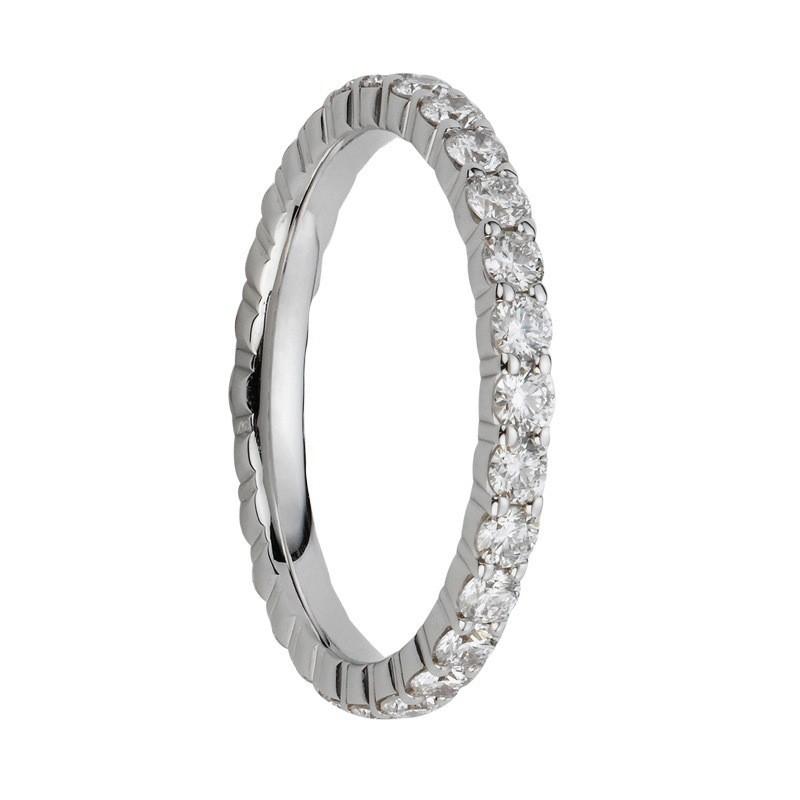 Alliances en diamants griffes Tour complet 2,4mm