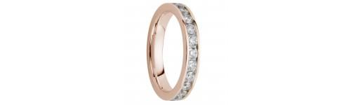 Alliance diamants sertis rails tour complet 1,5 carats