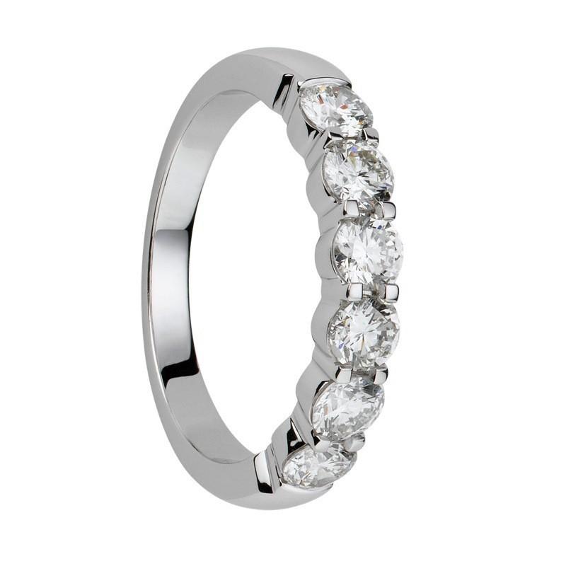 Alliance diamants griffes demi tour 0,5 carats