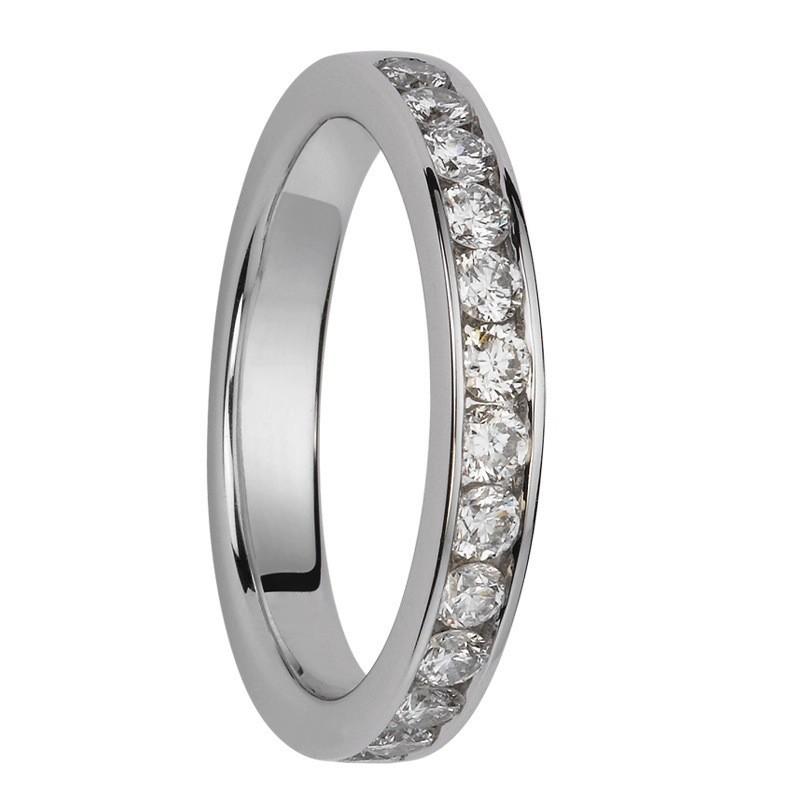 Alliance diamants sertis rails Demi Tour 0,650 carats