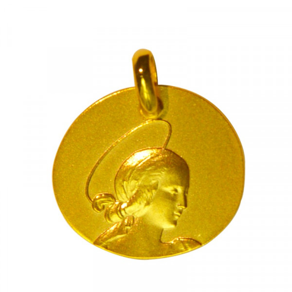 medaille bapteme vierge raphael or jaune