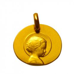 medaille bapteme galet enfant jesus or jaune