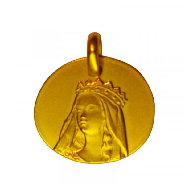 medaille bapteme notre dame de grace or jaune