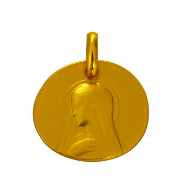 medaille bapteme galet ave maria or jaune