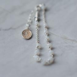 Dizainier argent et perles...