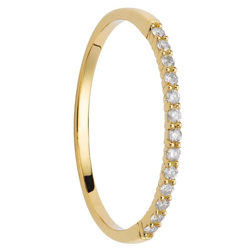 Alliance 13 diamants coup de coeur or jaune