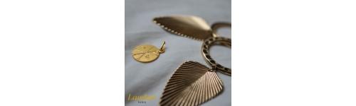 medaille Symbole du Chrisme or 18 carats