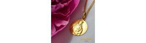 medaille bapeme Vierge de la sagesse or