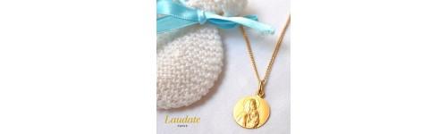 medaille bapteme Vierge du rédempteur or