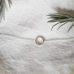 Bracelet pleine lune argent