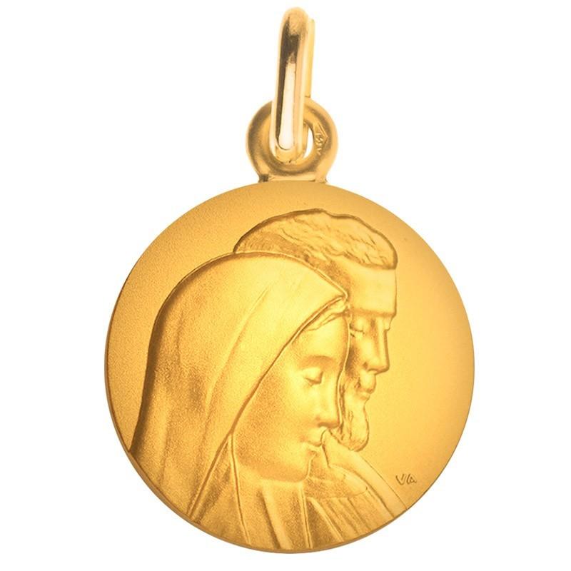 Medaille bapteme Marie et Joseph or