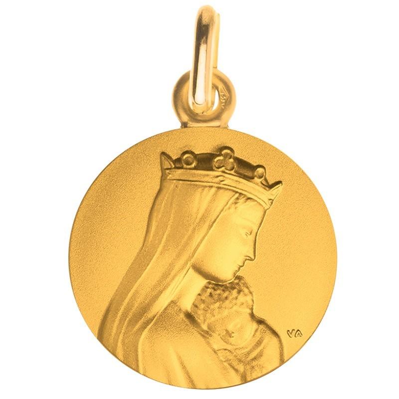 medaille bapteme notre dame de la sagesse portrait or