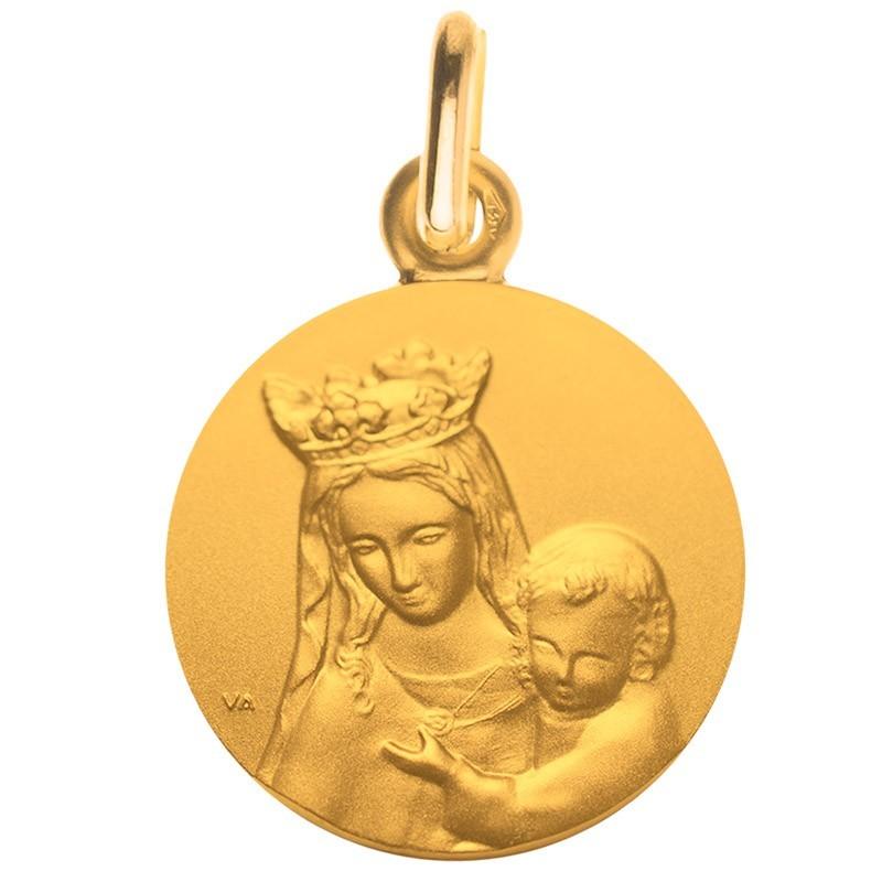 medaille bapteme notre dame de toutes graces portrait or