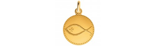 Medaille Symbole Poisson or 18 carats