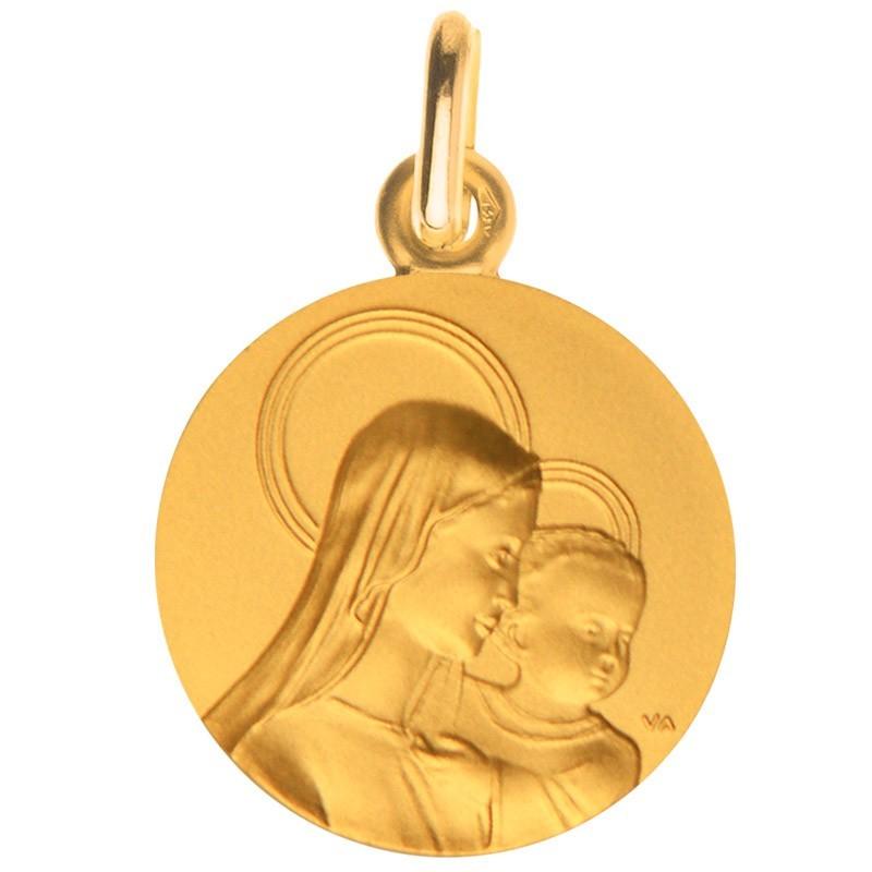 medaille bapteme Vierge de l'amour portrait or