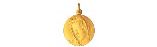 medaille-bapteme-vierge-pieta-or-jaune
