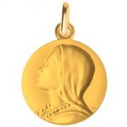 medaille bapteme vierge angelus or jaune