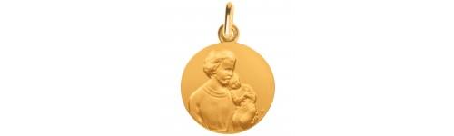 medaille bapteme Saint Joseph or