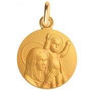 medaille bapteme notre dame paix or jaune