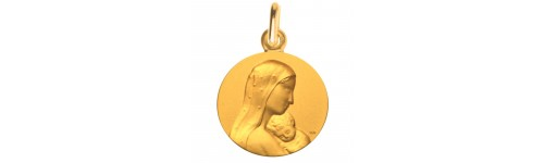 medaille bapteme tendresse cieux or jaune