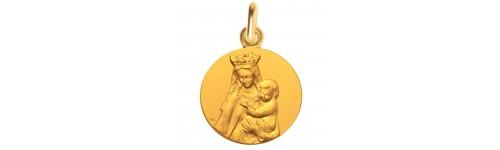 medaille bapteme notre dame graces or jaune