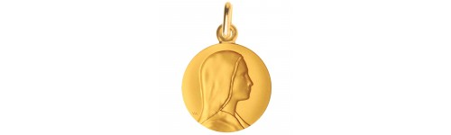 medaille bapteme vierge douce or jaune