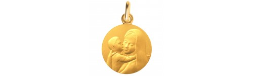 medaille bapteme douceur mariale or