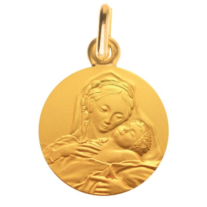 Medaille bapteme Vierge à l'enfant endormi