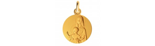 Medaille bapteme Vierge à l'enfant bénissant