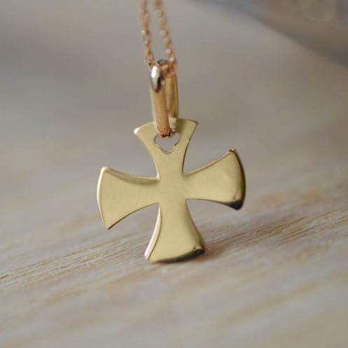 Mini croix de bapteme évasée