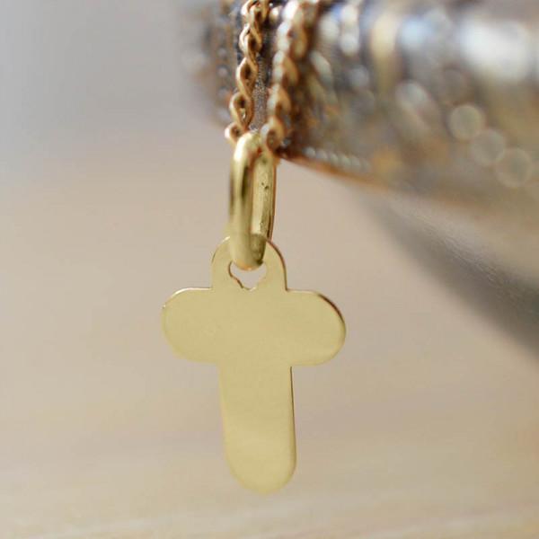 Mini croix de bapteme arrondie