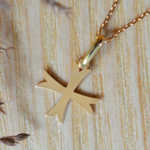 Mini croix de bapteme ancrée