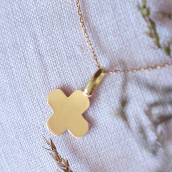 Mini croix bapteme grecque