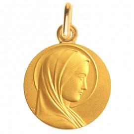 Medaille Bapteme Santa Maria en or jaune - Maison Laudate