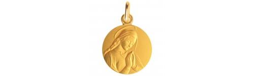 Medaille bapteme Vierge de Donatello en or jaune