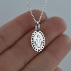 Collier Médaille Miraculeuse en argent