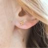 Boucles d'oreilles croix Laure or jaune 18 cts