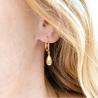Boucles d'oreilles Goutte en or jaune 18cts