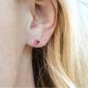 Boucle d'oreilles rubis