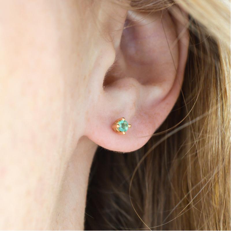 Boucles d'oreilles Emeraude
